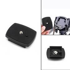 Black Tripod Quick Release Plate Screw Adapter Mount Head For Camera DSLR SLR