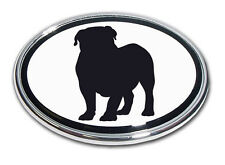 English Bulldog Chrome Car Truck Emblem High Quality Made in the USA! *NEW*