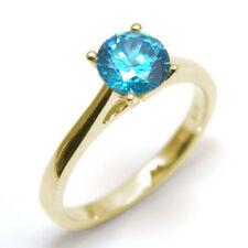 Ring Diamond Unique Solitaire Topaz 9ct Gold 1ct Engagement Ring