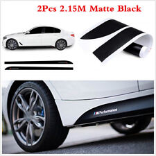 2pc 2.15M Sport M Performance Black Body Side Skirt Sill Decal Stickers For BMW