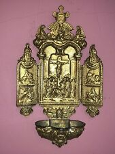 Holy Water Triptych 19th Century - Very Fine Detail