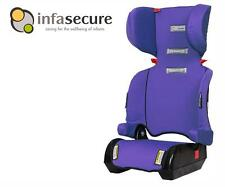 Infa Secure Versatile Folding Booster Car Seat 4-8 years Kid Child Infant Purple