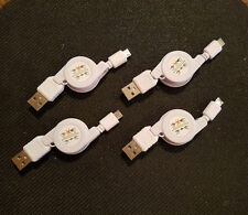 4 x NEW Retractable USB 2.0 to Micro USB Cables