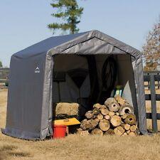 ShelterLogic 70333 Peak Style Storage Shed- 1-3/8 Frame- Grey Cover NEW