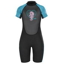 Yello Infants Kids Girls Seahorse Shorty Wetsuit Childrens WetSuits Shorty 2mm