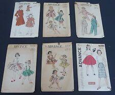 Vintage Advance child's girl's pattern lot dresses skirts coats pajamas
