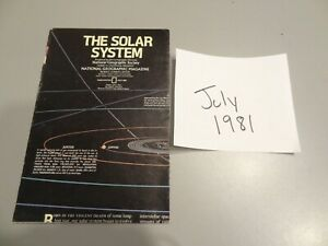 July 1981 Map from National Geographic The Solar System