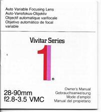 Vivitar Series 28-90mm f2.8-3.5 Lens Owner's Manual