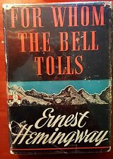 FOR WHOM THE BELL TOLLS by HEMINGWAY (1940 HARDCOVER, FIRST EDITION, PRINTING)