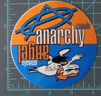 """Anarchy Angel"" - Eyewear factory Logo vintage sticker, surf, skate, motocross"