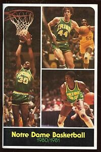 1980/1981 NCAA Basketball Notre Dame Yearbook With John Paxson EX