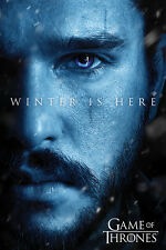 GAME OF THRONES WINTER IS HERE JON SNOW STARK POSTER 91.5 X 61CM 100% OFFICIAL