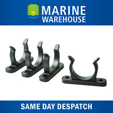 4X 25mm Black Nylon Tube Clips - Multi Purpose - Oars Paddles Gaffs 406844BEB
