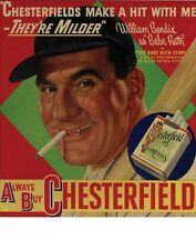 "TIN SIGN ""Chesterfield Cigarettes"" Nicotine Deco Garage Wall Decor"