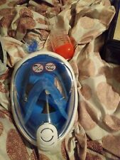 Tribord Subea EasyBreath Full Face Snorkel Mask Size M/S Blue & White
