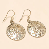 Handmade Bohemian Ethnic Earrings 925 Sterling Silver Handmade Fine Jewelry Gift
