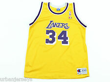Vtg Los Angeles Lakers Shaquille O'Neal #34 Youth Jersey by Champion - Size XL