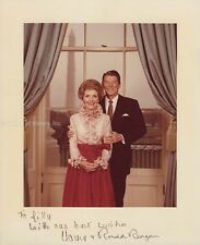 RONALD REAGAN - PHOTOGRAPH SIGNED CO-SIGNED BY: FIRST LADY NANCY DAVIS REAGAN
