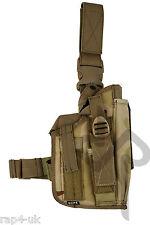 Main droite grand pistolet leg holster en camouflage désert s'adapte à toute grande arme de poing [AA7]