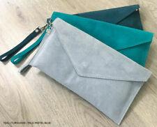 Borse e borsette da donna Pochette blu tinta unita