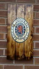Glasgow Rangers  sign wooden wall art , plaque , badge rustic mancave