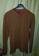 NWT MARC BY MARC JACOBS mens long sleeve bushwalker green henley size XL $88