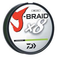 1 SPOOL DAIWA J-BRAID BRAIDED LINE 8 STRAND 80# TEST 1,500 METERS CHARTREUSE
