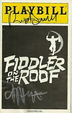 Rosie O'Donnell Harvey Fierstein signed Fiddler on the Roof Playbill