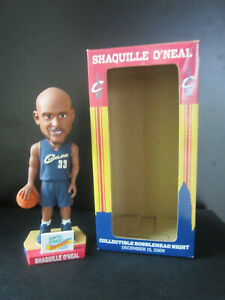 New! NIB! SHAQUILLE O'NEAL BOBBLEHEAD Cleveland Cavaliers SGA Cavs collectible