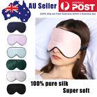 100% Pure Silk luxury Sleeping Soft Sleep Eye Mask Blindfold Lights Out Relax