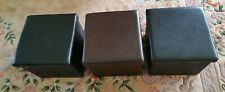 3 Folding Storage PVC Leather  Stylish Pouffee SEAT FOOTSTOOL 2 black1brown 38cm