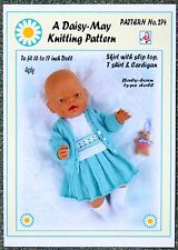 DOLLS KNITTING PATTERN 4 BABY BORN  No 274 A Val Young Pattern