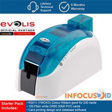 Evolis Dualys 3 Dual Sided Plastic ID Card/Badge Printer With Starter Pack & VAT