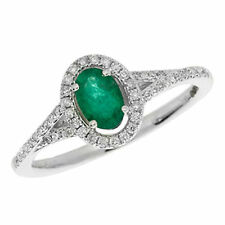 Unbranded Diamond White Gold Emerald Fine Rings