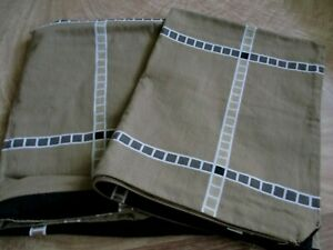 pair of standard size pillow shams brown and black