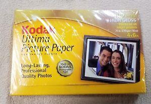 KODAK ULTIMA PHOTO PICTURE PAPER 100 Sheet High Gloss 4 x 6 Box NEW Sealed