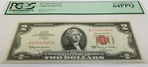 1963 2$ FEDERAL RESERVE NOTE PCGS 64PPQ VERY CHOICE NEW BILL
