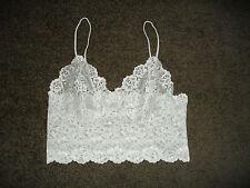 NEW: Petite Size: 12. Cheeky & Stylish Fresh-White Lace, Half Cami Singlet