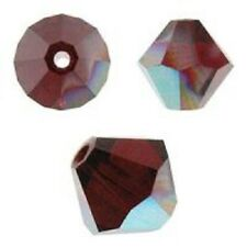 Swarovski Crystal Bicone.Siam AB Color. 6mm. Approx. 48 PCS. 5328