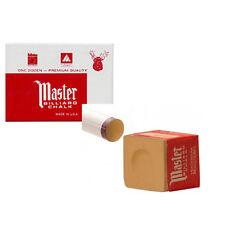 Craie billard Master boite de 12 craies billards marron