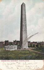 Antique POSTCARD c1906 Bunker Hill Monument BOSTON, MA MASS. 12713