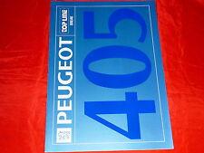 """PEUGEOT 405 Break """"Top Line"""" Sondermodell Prospekt von 1992"""
