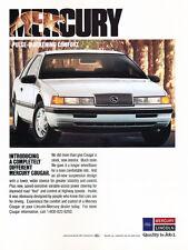 1989 Mercury Cougar - white - Classic Vintage Car Advertisement Ad J34