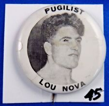 Pugilist Lou Nova Heavyweight Boxer Actor Pin Pinback Button 1 3/4""
