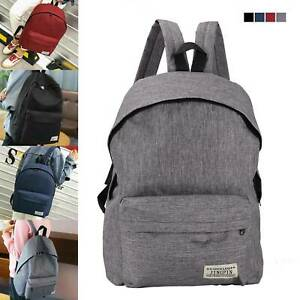 Popular Women Men Shoulder Canvas Backpack College School Travel Bag Classic