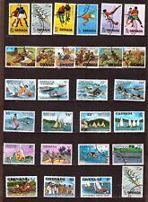 EP711 GRENADA 28T oblitérés: sport,scoutisme,voiliers,jeux de plage,d_ivers