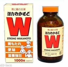 Japan Strong Wakamoto 1000Tablets Dried Yeast Tablets with Vitamins 強力若素健胃清肠剂乳酸菌
