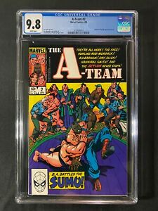 A-Team #2 CGC 9.8 (1984) - Based on NBC television series - Mr. T!!!