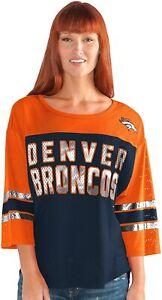 Denver Broncos Women's First Team Mesh T-Shirt - Navy/Orange
