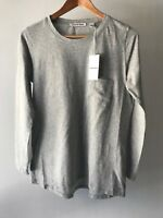 COUNTRY ROAD::[CR LOVE] NEW! [SZ S,M,L] cotton tee - grey long sleeved 10,12,14